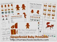 FREE Educational Printables for Kids!  {Gingerbread Baby}