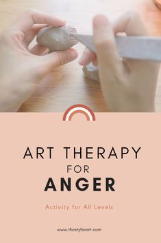Art Therapy activity for beginners and all levels when you feel angry or mad. Easy step by step guide using clay as a therapeutic medium will help you release tension and find more control. therapy activities for kids Art Therapy for Anger Play Therapy Activities, Counseling Activities, Occupational Therapy Activities, Elementary Counseling, Career Counseling, Elementary Schools, Art Therapy Projects, Therapy Tools, Kids Therapy