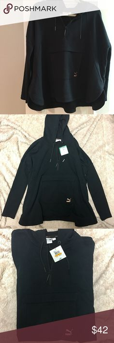 NWT Puma Hoodie Super soft and comfy Puma hoodie. Tags still on, great for hanging or working out. Runs a little big! Puma Tops Sweatshirts & Hoodies