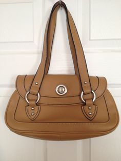 Vintage Soft Brown Leather with Brushed Satin by touchofclass123