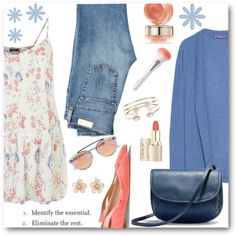 Casual Coral & Blue by brendariley-1 on Polyvore featuring мода, Violeta by Mango, AG Adriano Goldschmied, Sergio Rossi, UGG Australia, Accessorize, Mixit, Westward Leaning and By Terry