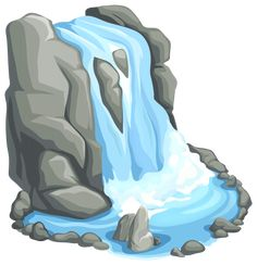 Waterfall PNG Clip Art in category Outdoor PNG / Clipart - Transparent PNG pictures and vector rasterized Clip art images. Drawing Rocks, Drawing Lessons For Kids, Cartoon Background, Environment Concept Art, Tree Art, Landscape Art, Art Images, Illustration, Kids Bedroom Ideas