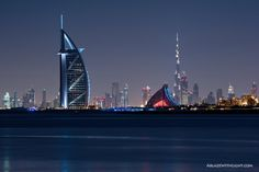 Dubai — Landmarks - View of Downtown Dubai from Palm Jumeirah ♥ REPIN, LIKE, COMMENT & SHARE! ♥