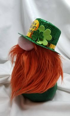 He may be a wee bit Irish, but Ivor is a whole lotta cute! Ivor the leprechaun stands 9 inches tall and is made with all new materials including fleece, faux fur, plastic/glitter hat, foam shamrocks, polyester fiberfill, rice for a weighted base and of course, love! Gnomes are