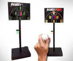 Basketball Beer Pong    Basketball fans and alcoholics rejoice – now you can combine your two favorite hobbies with this basketball beer pong game! Played just like traditional beer pong, except game table is now a portable basketball backboard, and the goal is to hit jump shots.
