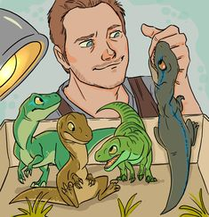 Owen and baby Raptor squad