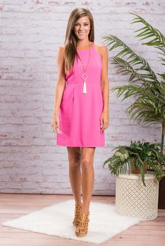df0bd89e00b8 This form fitting dress is so flirty and playful! The bright hot pink color  is · Mint Julep ClothingMint Julep BoutiqueSummer ...
