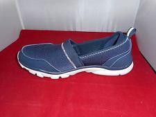 Tony Little Cheeks Fit Body Womens Slip on Walkers Sneakers Shoes New NAVY BLUE