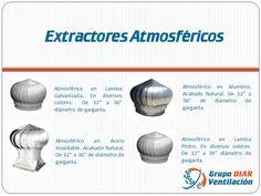 Atmosferico/ Extractor tipo Cebolla. Es el sistema de ventilación y extracción, más eficiente y económico  que proporciona un ambiente renovado permanentemente las 24 horas del día sin consumo eléctrico o combustible.