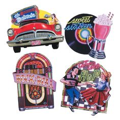 50s Diner Party Decorations | ... -Large-50s-Diner-Rock-And-Roll-Theme-Cutouts-Party-Wall-Decorations