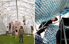 studioKCA head in the clouds PET bottle pavilion designboom