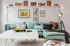 skandinavisches sofa hellgrün wohnzimmer