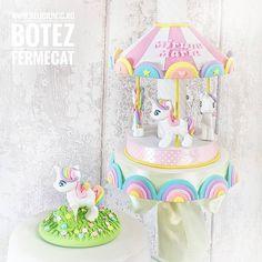 #Pastel #Rainbow #Unicorn #Carousel #Candle and #caketopper  - facebook.com/islamlog -