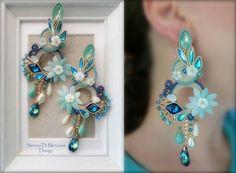 Boho Jewelry, Jewelry Crafts, Beaded Jewelry, Fashion Jewelry, Handmade Accessories, Handmade Jewelry, Soutache Necklace, Fabric Origami, Beaded Flowers