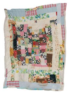 """Irene Williams - """"Housetop"""" medallion variation - c. 1970 Cotton, rayon, polyester double knit, acetate 82 x 66 inches Quilts Vintage, Antique Quilts, Star Quilts, Scrappy Quilts, Gees Bend Quilts, Handmade Quilts For Sale, Medallion Quilt, American Quilt, Traditional Quilts"""