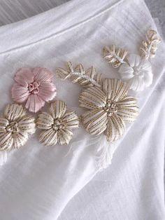 Shop White V Neck Embroidered T-shirt online. SheIn offers White V Neck Embroide.- Shop White V Neck Embroidered T-shirt online. SheIn offers White V Neck Embroide… Shop White V Neck Embroidered T-shirt online. Hand Embroidery Videos, Embroidery On Clothes, Shirt Embroidery, Embroidery Needles, Embroidery Fashion, Hand Embroidery Patterns, Ribbon Embroidery, Learning To Embroider, Flower Embroidery Designs