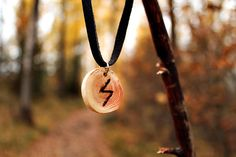 Nordic  Pagan  Viking wood SOWELU rune amulet by LoitsuCrafts