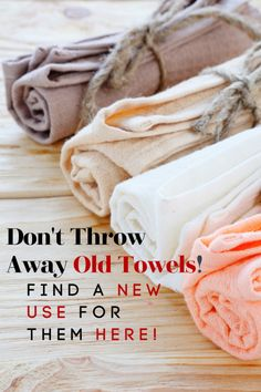 Do you have holey towels? Don't throw them away! Use the ideas in this post to find new uses for old towels! These ways to use old towels might just shock you and help you save a little money at the same time! Emergency Preparation, Emergency Preparedness, Frugal Living Tips, Frugal Tips, Natural Life, Natural Living, Old Sheets, Old Towels, New Uses