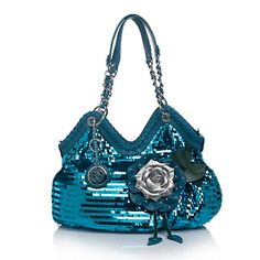 623f5508f57b Sharif Fringe Paillette Flower Shopper with Leather Trim at HSN.com. Cute  Purses