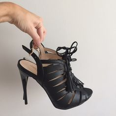 Selling this Charlotte Russe Lace Up Stilettos in my Poshmark closet! My username is: katrinamanetta. #shopmycloset #poshmark #fashion #shopping #style #forsale #Charlotte Russe #Shoes