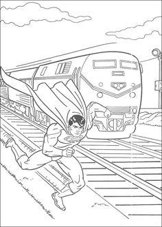 Tegninger til Farvelægning Superman 37