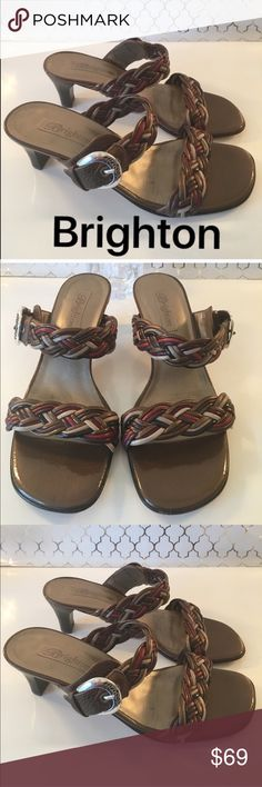 ⭐️BRIGHTON SANDAL LOW HEELS 💯AUTHENTIC BRIGHTON HEELED SANDALS 100% AUTHENTIC. STUNNING AND STYLISH TOTALLY ON TREND . THEY ARE SO BEAUTIFUL ! HIGH END LUXURY AND STYLE. THE COLORS ARE BROWN, BLACK , RED , COPPER , TAN AND SO ON! THE ARE A SIZE 7 M Brighton Shoes Heels