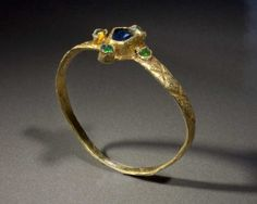 A Gothic Gold, Sapphire & Emerald Ring, ca 13th-14th century A.D.   Sands of Time Ancient Art