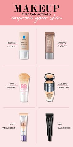 It's a rumor that all makeup is bad for your skin! We pulled together a list of products that can actually IMPROVE your skin!