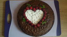 Schokoladenkuchen mit Herz