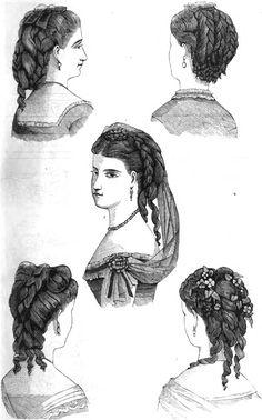 19th Century Historical Tidbits: 1870 hair fashions