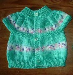 Secret Garden Baby Cardi - free top down Pattern