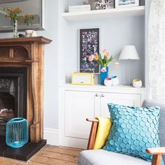 'We wanted a place to retreat to when the rest of the house was still such a state.' The living room was the first area to be renovated – says the owner, Christine, who blogs at LittleHouseOnTheCorner.com.  Old meets new