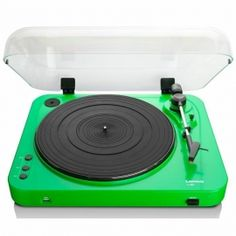Lenco L-85 Turntable with USB Direct Recording [Green]