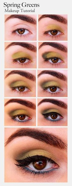 Make Up Tutorial For Summer Greens.....