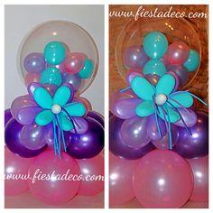Balloons decoration #bubbles Decoracion con globos.
