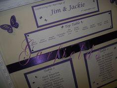 Purple Seating Plan by Garfield's Balloons Weddings Tamworth, via Flickr