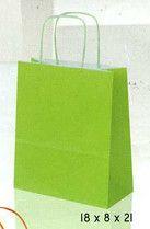 Bolsas de papel asa rizada  www.elreydelabolsa.com