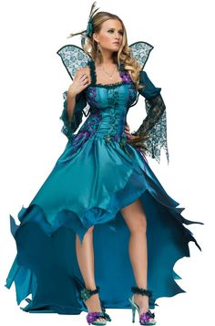 Peacock Fairy Adult Costume for Halloween - Pure Costumes