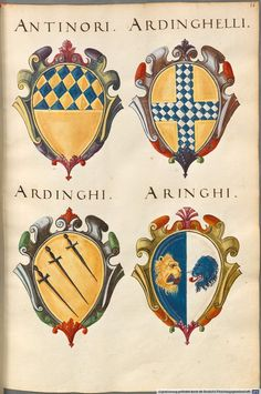 Italian Family History Crests ~ #famiglia #family #genealogia #genealogy #italian #crest #surname #coatofarms ~ No color on color