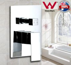 Bathroom-Shower-Mixer-Tap-Diverter-Square-Water-Faucet-Wall-Mounted-Brass-Chrome