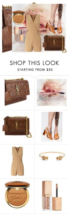 """""""YSL"""" by nela-queen ❤ liked on Polyvore featuring Yves Saint Laurent, Public Desire, Miss Selfridge, Rachel Jackson, Too Faced Cosmetics and Stila"""