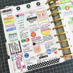 stephbuice: Here's a little @meandmybigideas Happy Planner page to break up my layouts:) I'll post the full spread sometime next week. Happy Weekend! #HappyPlanner #thehappyplanner #planner #planning #planneraddict #create365 #mambi