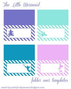 The Little Mermaid fold over templates {free printables}