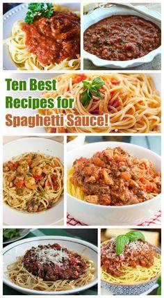 10 Homemade Spaghetti Sauce Recipes