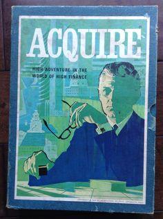 Vintage Acquire Board Game 1968 Book Shelf 3M Finance Complete | eBay
