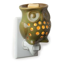Owl Plug In Fragrance Warmer These decorative Plug-In fragrance warmers are designed to warm scented oils and wax creating the glow and ambiance of a burning candle while releasing the fragrance into the home. Ideal for small rooms and small spaces Plug In Wax Warmer, Candle Warmer, Country Scents Candles, Buy Candles, Wax Warmers, Scented Oils, Scented Wax Melts, Ceramic Design, Burning Candle
