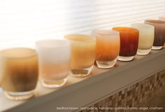 bedford brown. creamsicle. friendship. comfort. nishino. angel. chatham. | glassybaby