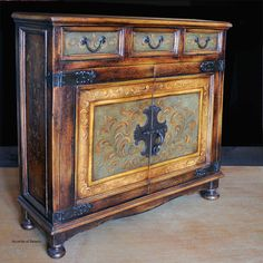 Hand Painted Furniture Hand Painted Chest Server