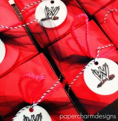 WWE Birthday Party Printable Logo Tags For Favors
