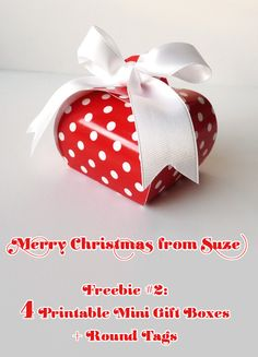*** Merry Xmas! Free printable suite - #2: Mini Gift Boxes - WITH A SPECIAL RECIPE BY ANEMONE'S CORNER! ***